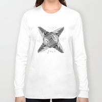 architecture Long Sleeve T-shirts featuring kaleidoscope  architecture by Vin Zzep
