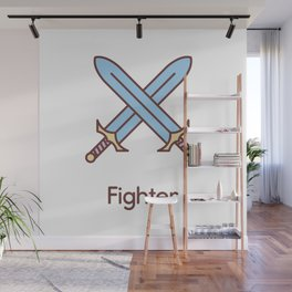 Cute Dungeons and Dragons Fighter class Wall Mural