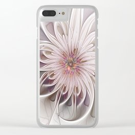 Floral Beauty, Abstract Fractal Art Clear iPhone Case