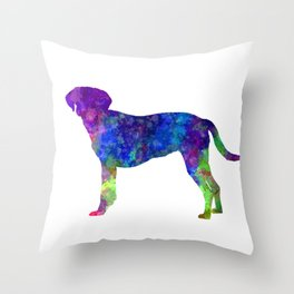 Istrian Scenthound in watercolor Throw Pillow