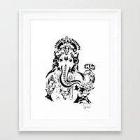 ganesh Framed Art Prints featuring Ganesh by ShivaR