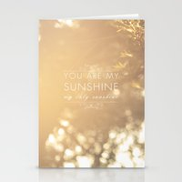 you are my sunshine Stationery Cards featuring You Are My Sunshine by Sandra Arduini