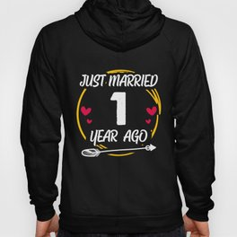 First 1st 1 year Wedding Anniversary Gift Marry Husband Wife graphic Hoody
