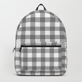 Plaid (gray/white) Backpack
