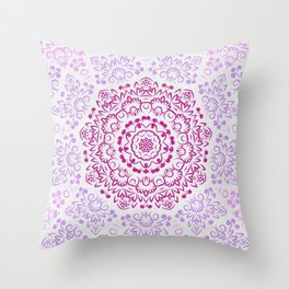 A Glittering Colorful Mandala 2 Throw Pillow