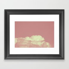 Forever Dreaming of Pink Clouds Framed Art Print