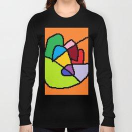 abstract heart art Long Sleeve T-shirt