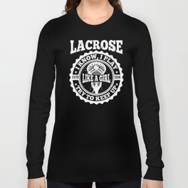 Lacrosse Girl product gift, Lax design for women Long Sleeve T-shirt