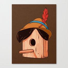 Woodpecker´s house Canvas Print