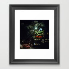 Old Town Sign and Raindrops Framed Art Print