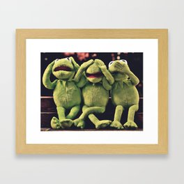 Kermit frog framed art prints society6 kermit green frog framed art print m4hsunfo