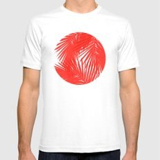 Palms Red Hot MEDIUM Mens Fitted Tee White