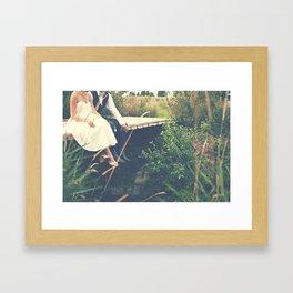 Married Couple on Honey Moon Framed Art Print