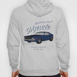 American Muscle Car 60s 70s Vintage Hoody
