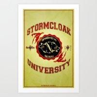 skyrim Art Prints featuring Stormcloak University(Skyrim) by Chubbybuddhist