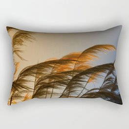 Sunset in autumn. Pampa grass Rectangular Pillow