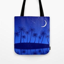 Blue Island Starry Sky Tote Bag