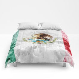 Extruded Flag of Mexico Comforters