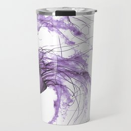 Neanderthal Pacific Sea Nettle, Burgundy  Travel Mug