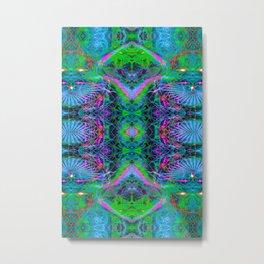 Techno Electric V (Ultraviolet) Metal Print