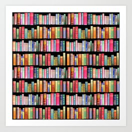 Vintage Book Library for Bibliophile Art Print