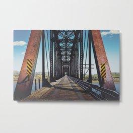Badlands Bridge Metal Print