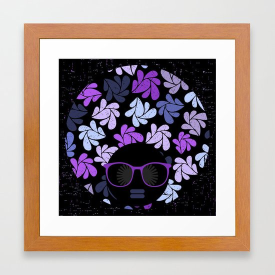 Afro Diva Purple Framed Art Print By Bsavvy Society6