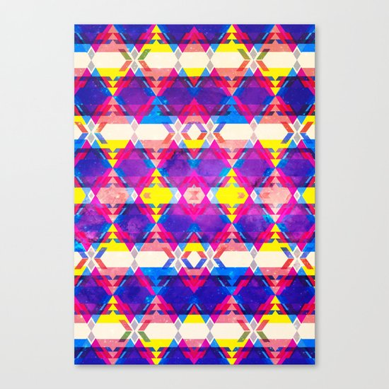 Blue Abstract Diamonate Canvas Print