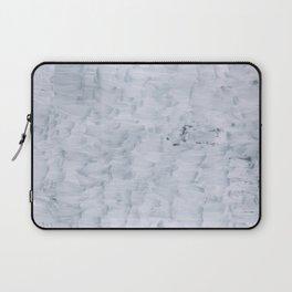 minimal abstract white paint brush texture pattern Laptop Sleeve