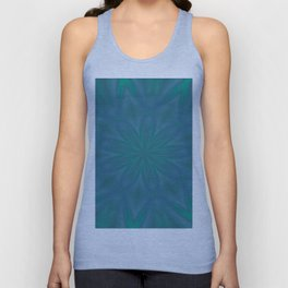 Aurora In Teal Blue and Green Unisex Tank Top