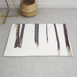 Bare Trees in Winter Rug