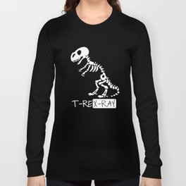 TRex X-Ray Radiology Skeleton Dinosaur Long Sleeve T-shirt