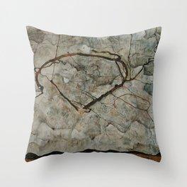 Autumn Tree in Stirred Air (Winter Tree) by Egon Schiele Throw Pillow