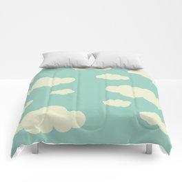 vintage clouds Comforters