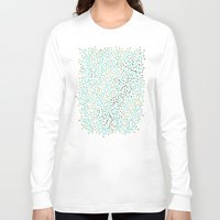laptop Long Sleeve T-shirts featuring Berry Branches – Turquoise & Gold by Cat Coquillette