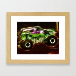 Magical Grave Digger Monster Truck Framed Art Print