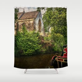 Church By The Oxford Canal Shower Curtain