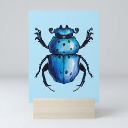 Blue Beetle Cool Insect Art Mini Art Print