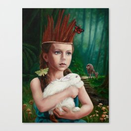 Feather Crown Canvas Print
