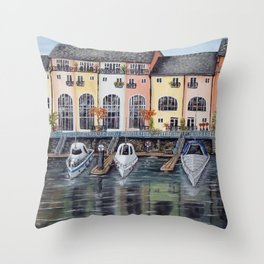 Penarth Marina Throw Pillow