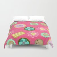cookies Duvet Covers featuring Cookies by Party Peeps