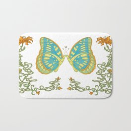 Spring Butterfly  Bath Mat