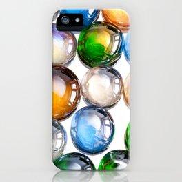Plenty multicolored glass balls iPhone Case