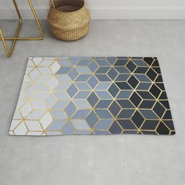 Colorful and golden pattern I Rug