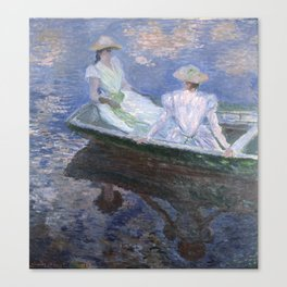 1887-Claude Monet-On the Boat-133 x 145 Canvas Print