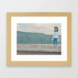 Self portrait in balaclava Framed Art Print