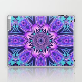 The floral kaleidoscope in pink, purple, blue and turquoise Laptop & iPad Skin