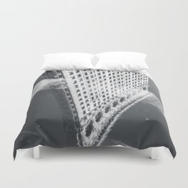 Flat Iron Building - NYC Reflection Duvet Cover
