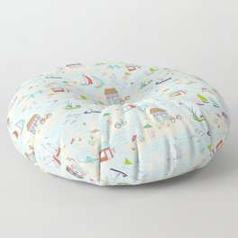 Summer On The Islands Floor Pillow