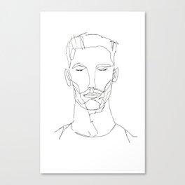 Single line portrait Canvas Print